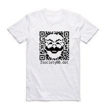 2017 Men Print Genius Mr Robot Fsociety T-shirt O-Neck Short Sleeve Summer Hacker Evil Genius Series Tee Hip Hop Funny T Shirt