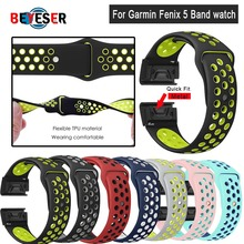 22mm Fenix 5 Quick Fit Sport Silicone Watch Band Strap for Garmin Fenix 5/5 Plus/Forerunner 935/Instinct/Quatix 5 Smart Watch 22mm luxury genuine leather watch strap for garmin fenix 5 quick fit clasp wristband bracelet for fenix 5 plus quatix 5 belt