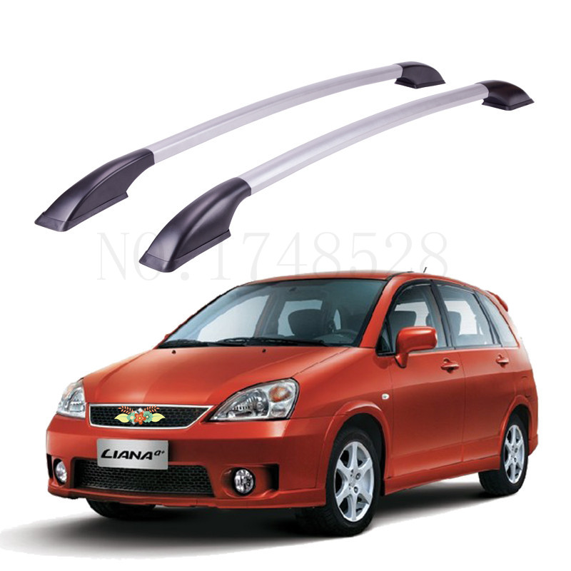 Accessories Refitting the roof rack of aluminum alloy luggage rack for Suzuki liana Auto parts 1.6M partol black car roof rack cross bars roof luggage carrier cargo boxes bike rack 45kg 100lbs for honda pilot 2013 2014 2015