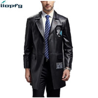 2018 NEW Winter Sheep Skin Men S Jacke First Layer Sheep Skin Suit Collar Leather And