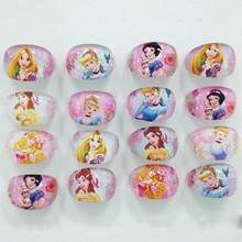FANRAR/Новинка; смешанные детские кольца для девочек; 20 шт.; милые детские кольца принцессы Рапунцель Белоснежки; вечерние кольца