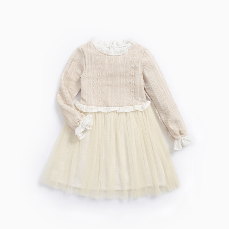 2018  Limited Special Offer Knee-length Girls Dress Spring Autumn Cotton Kids For Long Sleeve Clothes For Princess Girl Party uoipae party dress girls 2018 autumn