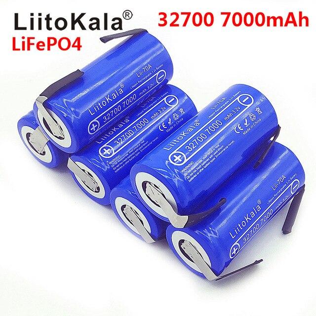 2019 LiitoKala 3.2 V 32700 7000 MAh High Power Battery 6500 MAh LiFePO4 35A 55A Continuous Battery Discharge + Nickel Sheets