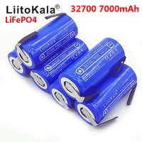 2019 LiitoKala 3,2 V 32700 7000 mAh High Power Batterie 6500 mAh LiFePO4 35A 55A Kontinuierliche Batterie Entladung + Nickel blätter