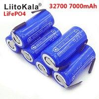 Liitokala 2020 bateria de alta potência  3.2 v 32700 7000 mah lifepo4 35a 55a bateria de descarga contínua + níquel folhas de folhas