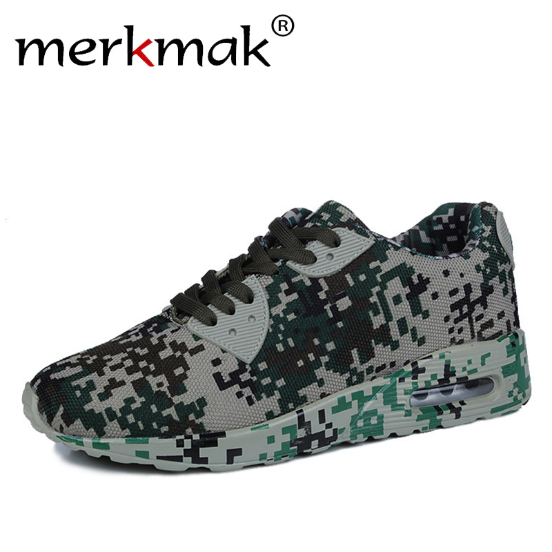 Merkmak Super New 2017 Men Casual Shoes Canvas Camouflage Star Style Male Shoes Comfort Soft Walking
