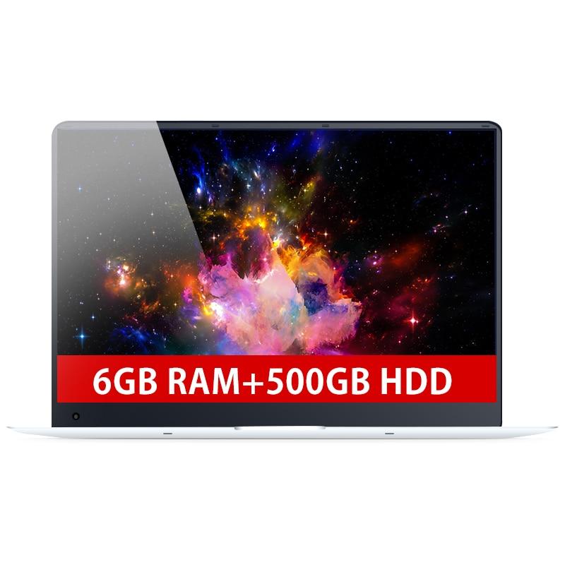 15.6 pouces 6 gb RAM + 500 gb HDD Intel Quad Core Course Rapide CPU Windows Système 10 1920*1080 p Full HD Wifi Bluetooth Pc Portable