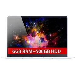 15.6inch 6GB RAM+500GB HDD Intel Quad Core Fast Run CPU Windows 10 System 1920*1080P Full HD Wifi Bluetooth Laptop Notebook