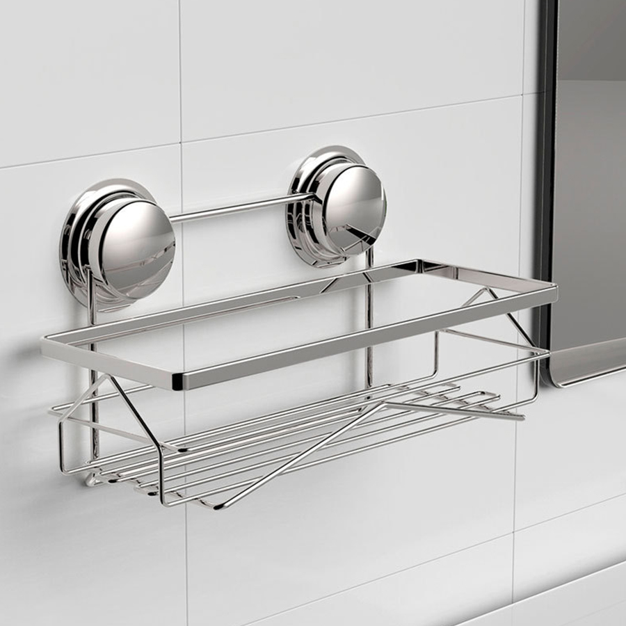 Maxswan Bathroom Shelf Stainless Steel Shelves Bath Wall Dual Strong Suction Er Shower Accessories In From Home
