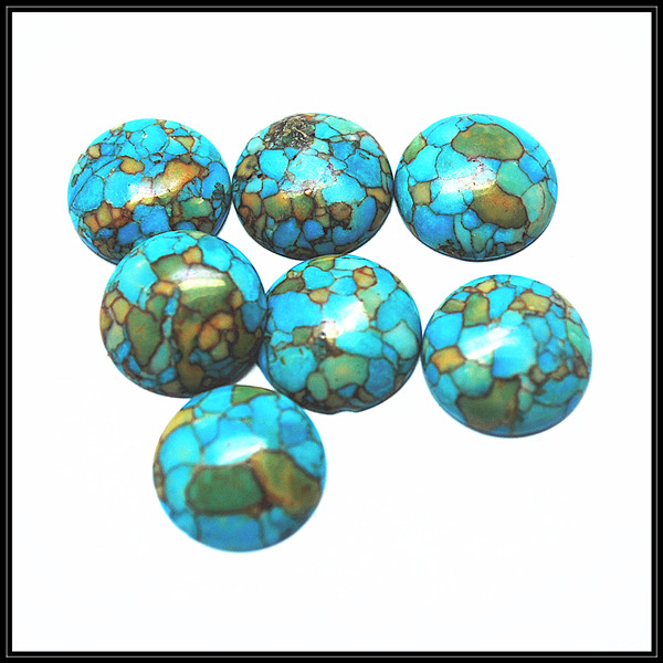 nature blue turquoisee stone cabochon loose turquoisee beads fashion bracelet beads cabochon size 12mm 14mm 16mm 18mm coin shape crystal heart shape crystal fancy stone point back glass stone for diy jewelry accessory 8mm 10mm12mm 14mm 16mm 18mm 23mm
