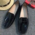 Nuevo Diseño de Las Mujeres Zapatos Planos de Cuero de La Pu Mujeres de Los Planos de Conducción Zapatos Mocasines zapatos de Moda Casual Zapatos de Cuero Suave Cómodo