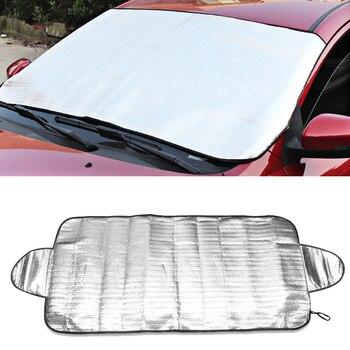 1PC UV protección trasera parabrisas cubierta de ventana de coche parasol cortina de Sun Visor de filme frente Auto-estilo 190*70cm