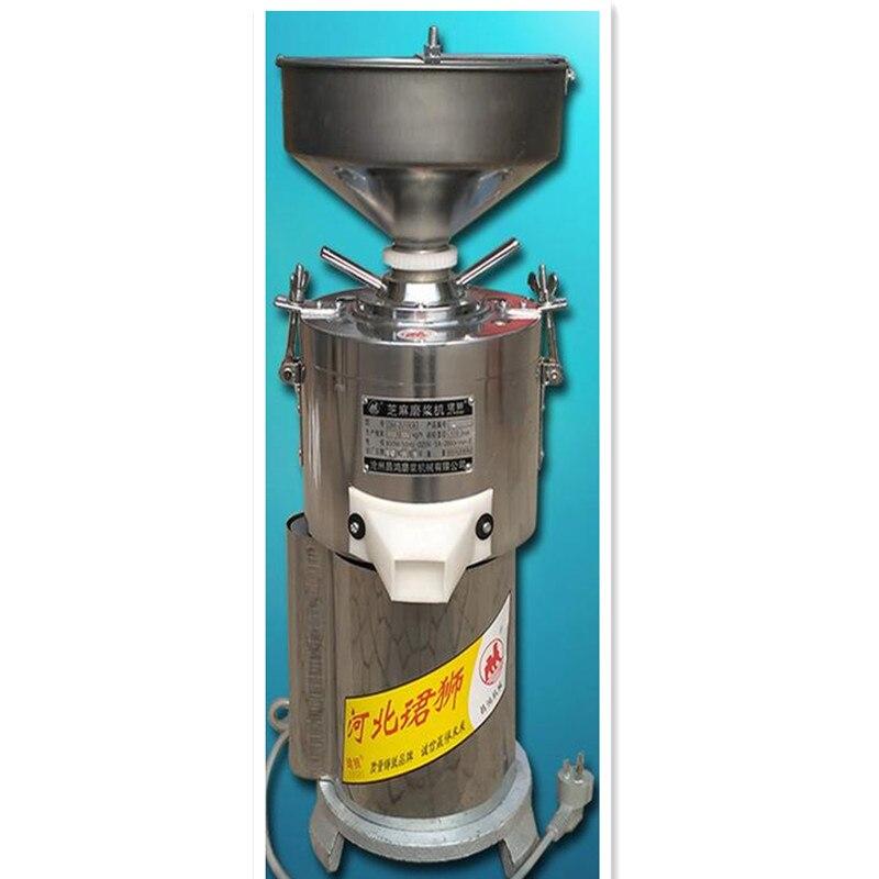 220 В коммерческие 15 кг/ч Нержавеющаясталь шлифовальный станок для арахисовое масло кунжутное вставить арахиса мельница для орехов