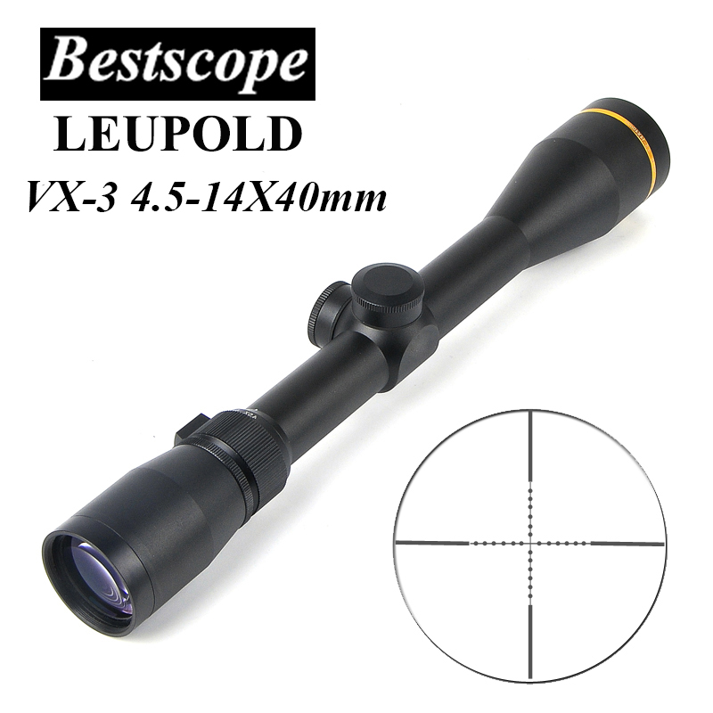LEUPOLD VX-3 4.5-14X40mm Tactical Riflescope Long Eye Relief Scope Sniper Sight Airsoft Hunting Scopes w/ Mounts