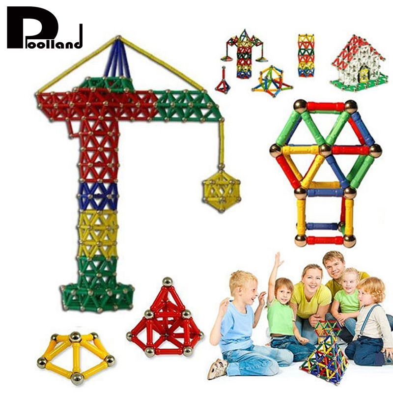 103Pcs/Set Magnet Toy Bars Metal Balls Magnetic Building Blocks Construction Toys DIY Early Educational Game Toy For Kids P20 mtele brand 62 pcs pcs magnetic tiles designer construction kids educational toys creative bricks enlighten toy