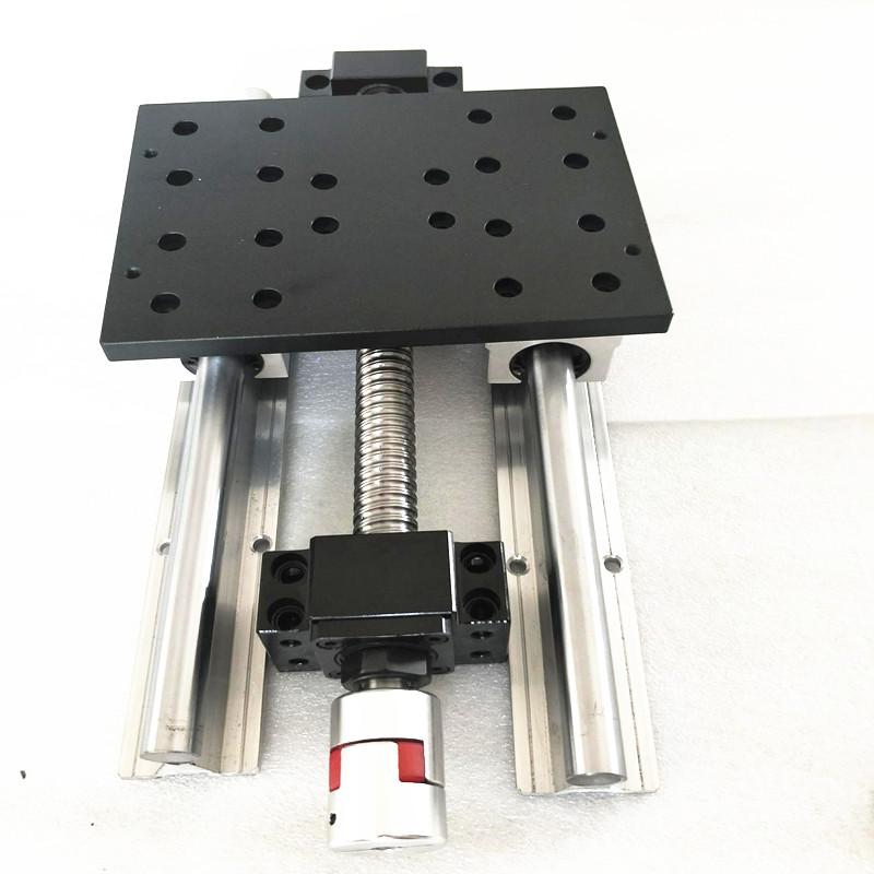 Slide line table CNC module of linear coordinate travel of table SFU1605 365mm BKBF12 SBR16 LINEAR