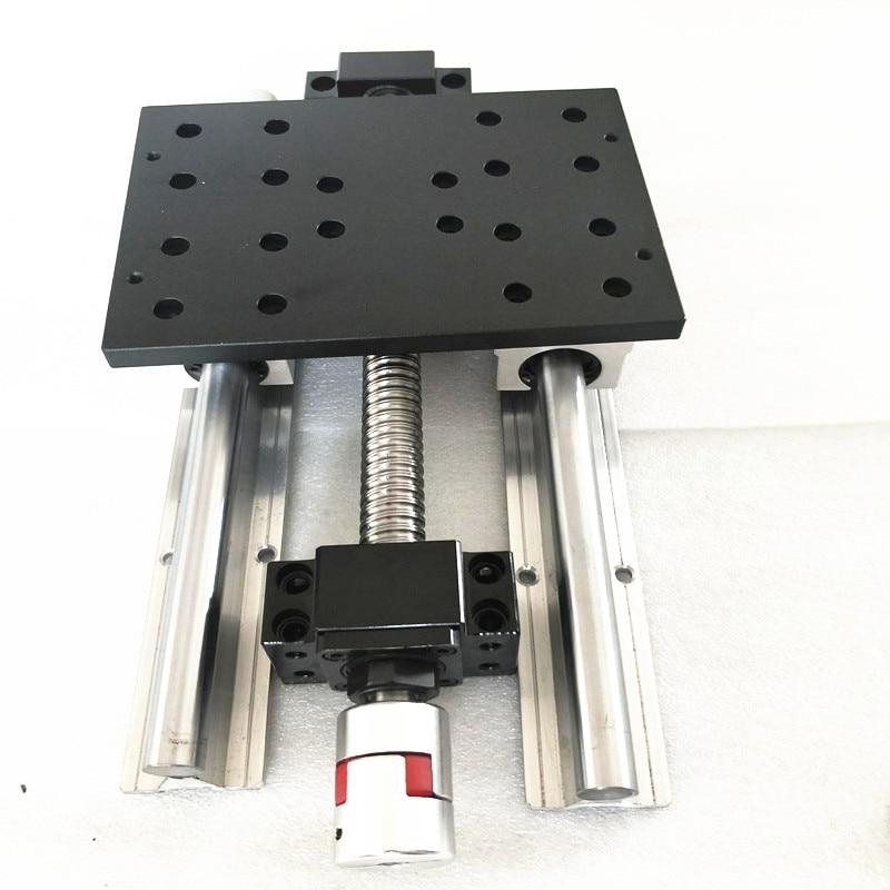 Slide / line / table /CNC module of linear coordinate travel of table SFU1605 365mm+BKBF12+SBR16 LINEAR RAIL|linear rail|sbr16 linear rail|sliding table - title=