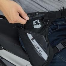Bolsa de piernas a prueba de agua, riñonera de nailon Oxford para motorista, pierna, cadera, cinturón, para viajes, trabajo, senderismo y acampada