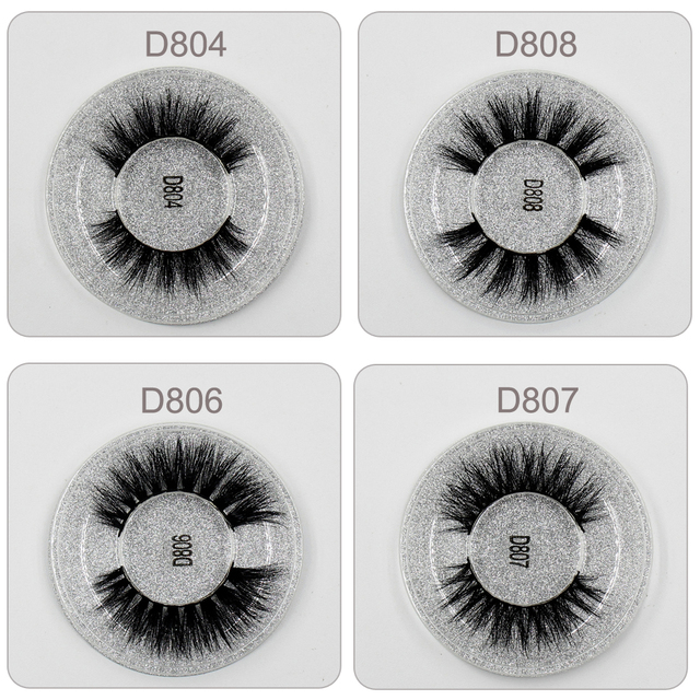 LEHUAMAO Mink Eyelashes 3D Mink Lashes Thick HandMade Full Strip Lashes Cruelty Free Mink Lashes 13 Style False Eyelashes Makeup 4