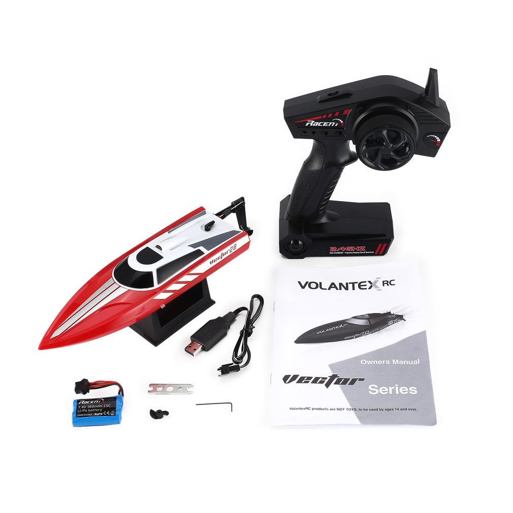 795-1 28km/h 2.4G Brushed High Speed RC Remote Control Racing Boat Speedboat Ship with Water Cooling System for Kids Gift