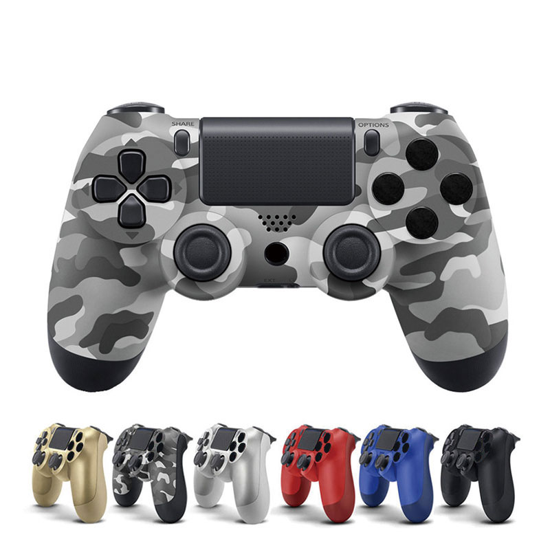 цена USB Game Controller Gamepad Joystick For Sony Playstation 4 PC Computer Android Vibration Controle Wire Remote Games Pad Manette