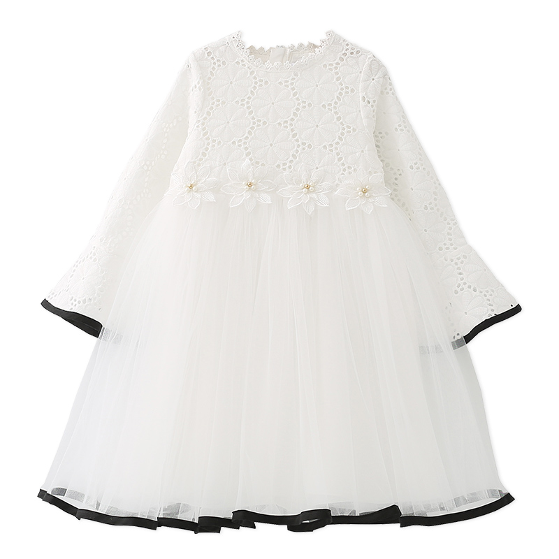 Girls Dresses for Kids Clothes Girls Princess White Lace Floral Dress Wedding Cute Flower Tutu Dress Vestidos 6 8 10 12 Years baby girls dress 2017 new children lace princess bow clothes toddler school wear wedding dresses for kids 3 6 8 10 11 years old