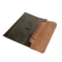 Кожаная папка для документов, чехол с внутренним карманом, деловой портфель для хранения, папка для документов, Сумка для документов, уголок радости