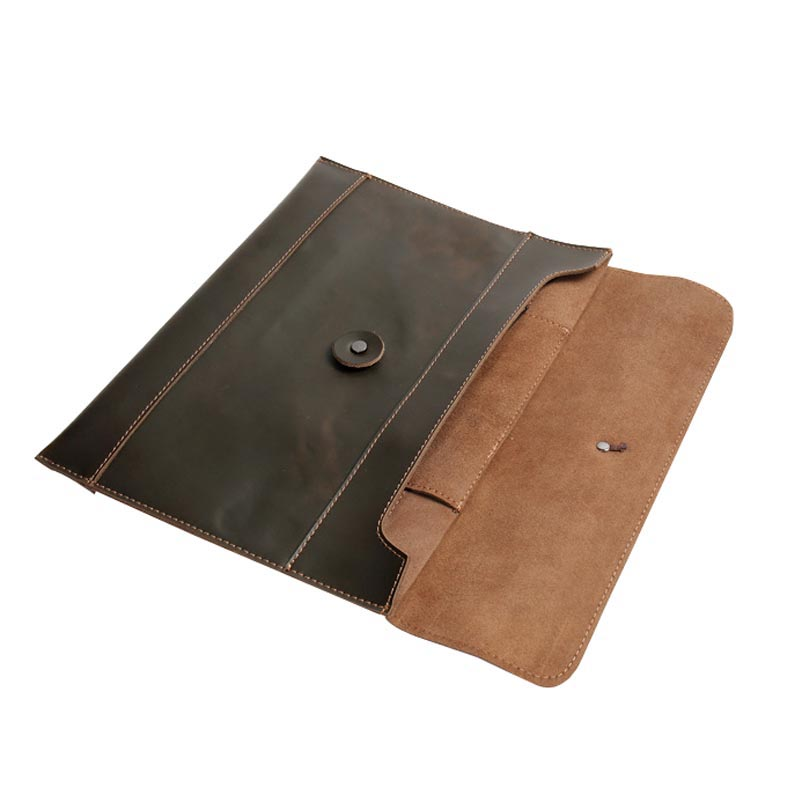 Leather Folder for Documents Case with Inner Pocket Business Briefcase Storage File Folder for Papers Document Bag Joy Corner simple solid a4 big capacity document bag business briefcase storage file folder for papers stationery student gift