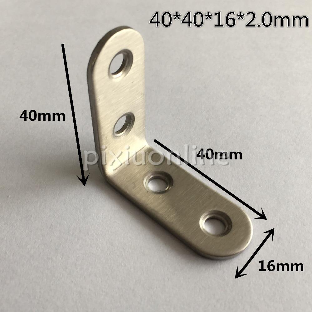 DS267b Thicken Stainless Steel Corner Connection 40*40*16*2.0mm Furniture Woodworking Parts  Isreal Brazil oscar de la renta юбка с вышивкой