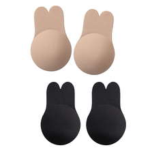 4PCS Breast Petals Nipple Full Covers Push Up Invisible Bra Reusable Adhesive Lift Intimates for Party Dress 11*17cm