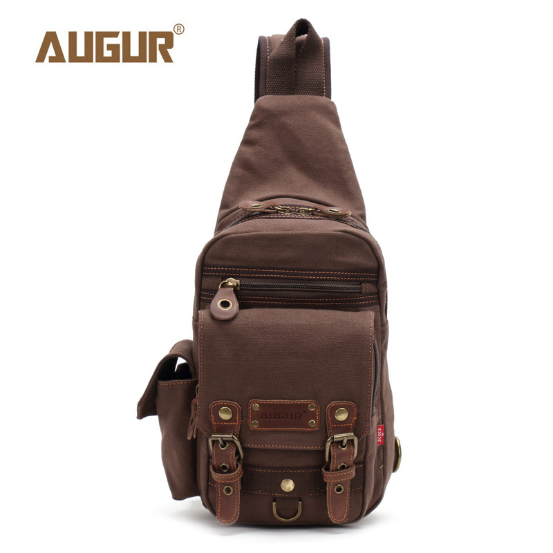 AUGUR Newly Arrived Men Chest Pack Bag For Men Work Sling Casual Canvas Shoulder Male Travel Male Three Color Crossbody Bag augur 2018 men chest bag pack functional canvas messenger bags small chest sling bag for male travel vintage crossbody bag
