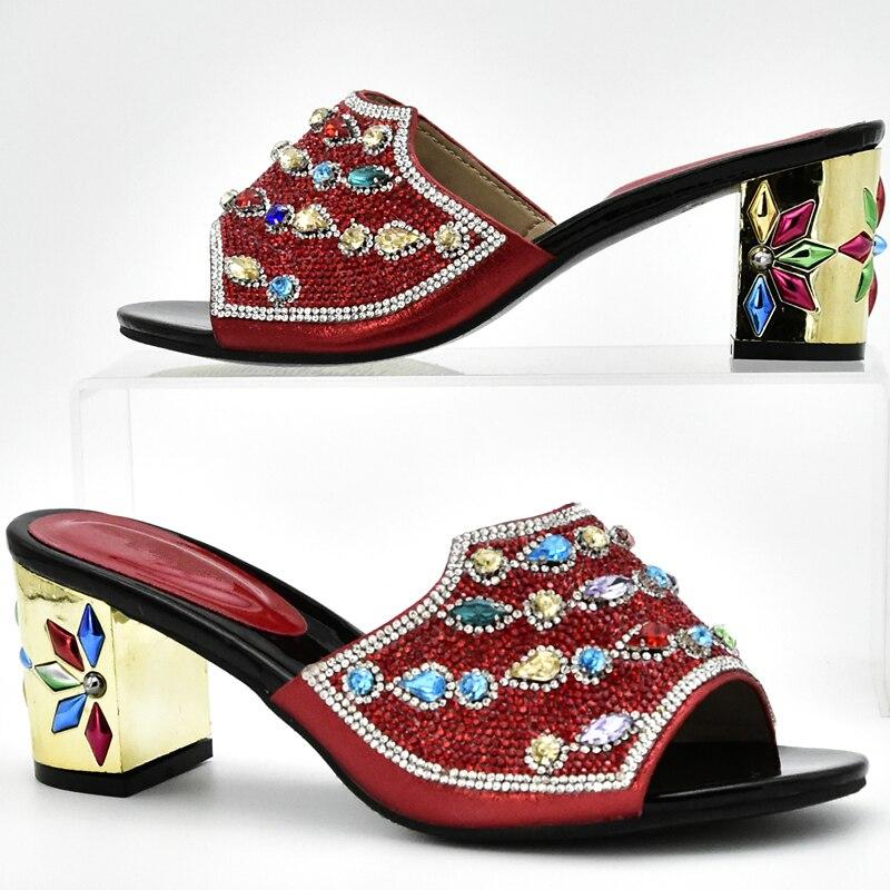 fuchsia La Boda Azul Set Bolsa púrpura Nuevos Juego Zapatos Matching Bag A oro Las Y Para rojo Mujeres Italiano Nigeriano qxT6OxR