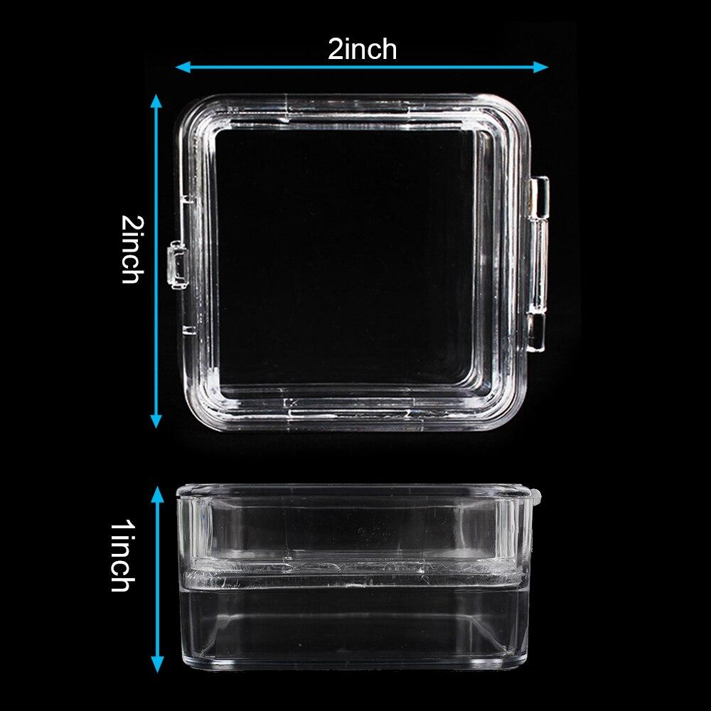 10pcs a Pack Transparent Plastic Dental Crown Box Clear Dental Membrane Box Tooth Organizer 2