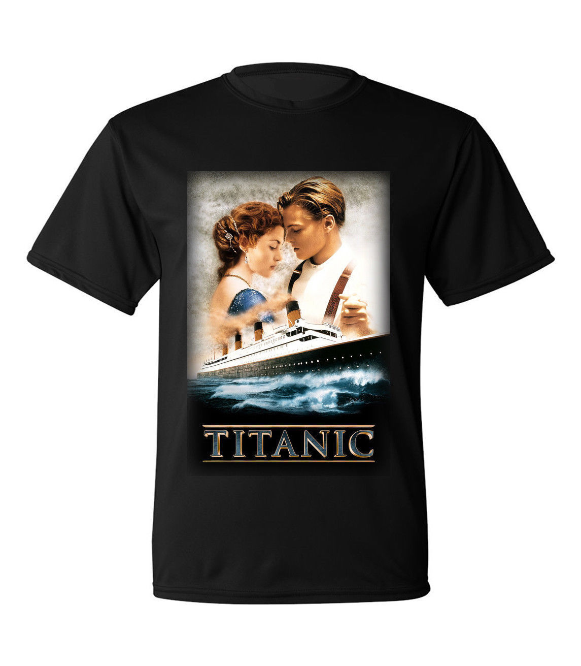 Vintage 1996 Titanic Movie Promo Black T Shirt Leonardo Dicaprio Sz S 2xl Cool Summer Tees T-shirt Men Summer