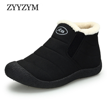 ZYYZYM Mens Boots Winter Keep Warm Snow Unisex Fashion Plush Cotton Shoes Man Bota Coturnos Masculino