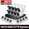 HD 960P 1 3MP CCTV Camera System 16CH DVR Kit 1080p Onvif 16CH DVR 8 Waterproof