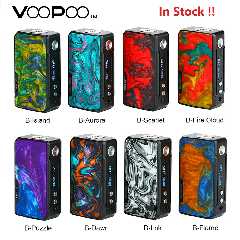 Original 177 W VOOPOO glisser 2 boîte Mod avec résine colorée apparence e cig Vape Mod No 18650 batterie Vs glisser Mini/Shogun Univ-in Cigarette électronique Mods from Electronique    1