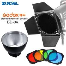 Godox – grille en nid dabeille pour porte de grange BD 04, filtre 4 couleurs + réflecteur de montage Bowens pour Flash de Studio Bowens