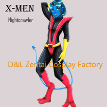 Free Shipping DHL X- Men Nightcrawler Superhero Costume Red And Black Lycra Catsuits For Woman Halloween Cosplay Costume XM110