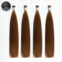 Fairy Remy Hair 0.8g/s 16 18 20 Pre Bonded Hair Extensions I Tip Mid Brown 100% Remy Human Hair On Capsule Real Hair 40g/pac