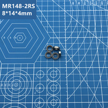 купить Free Shipping High quality 10PCS MR148-2RS (BLACK) 8*14*4 mm Miniature deep groove Ball Bearings MR148RS L1480 MR148 по цене 431.82 рублей