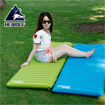 Hewolf ultra-light inflatable cushions outdoor tent sleeping pad single widened thickened indoor lunch break moisture-proof pad
