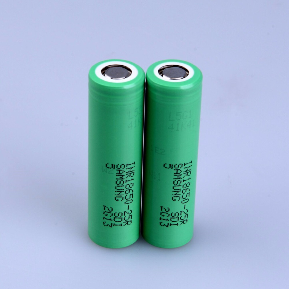 Original for <font><b>SAMSUNG</b></font> INR <font><b>18650</b></font> - <font><b>25R</b></font> 3.6V 2500mAh Dynamic Lithium li-ion Rechargeable chargeable Batteries with FREE charger image