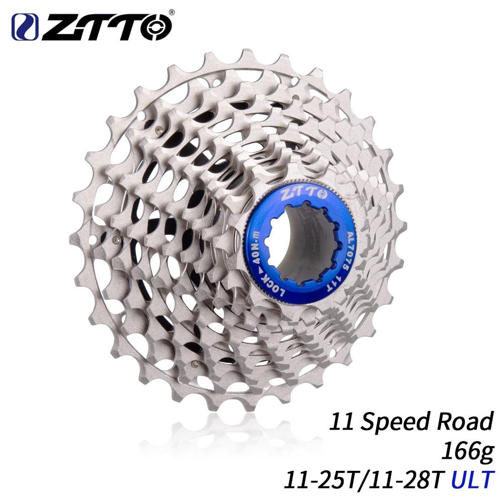 ZTTO Ultimate 11 Speed Cassette 11 28T ULT 11 25T 11Speed Road bike Freewheel Red Cassette