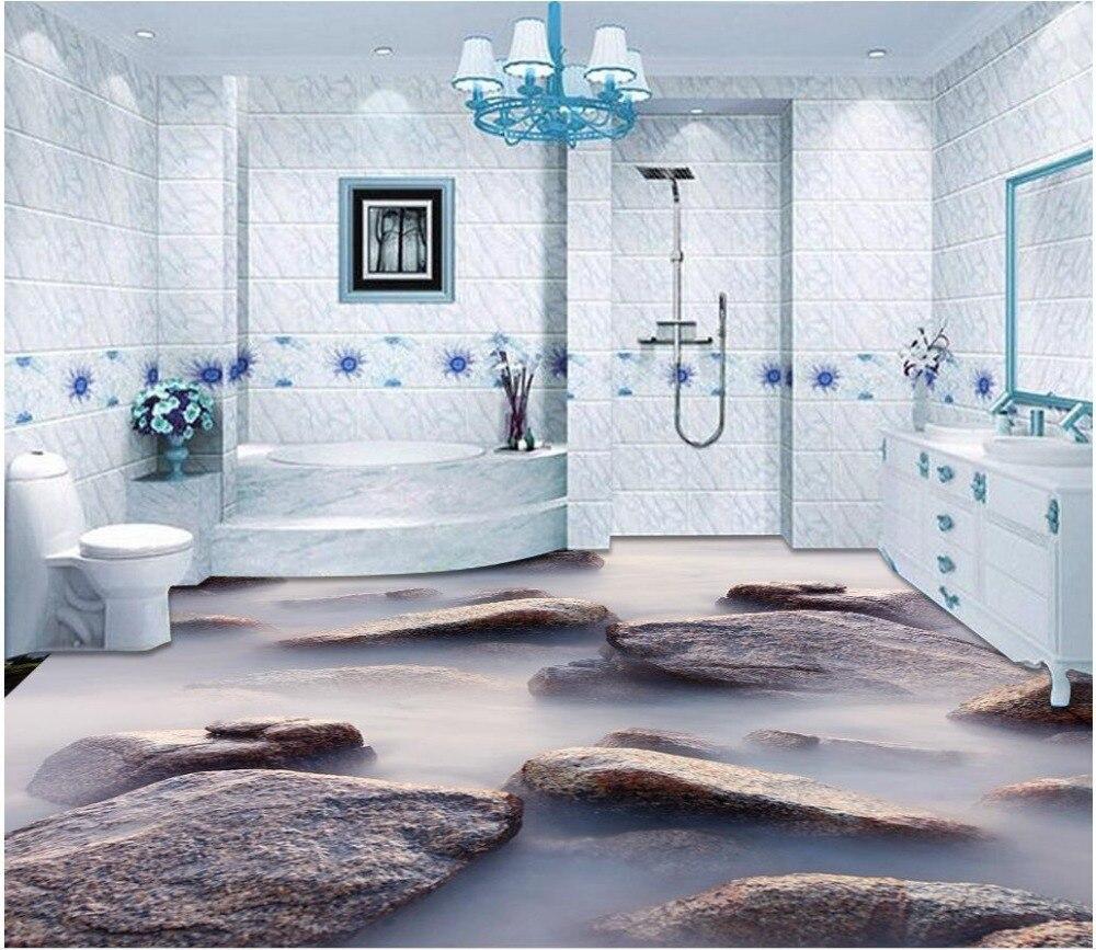 US $21.0 58% OFF 3d boden malerei tapete Meer stein wolke 3D stereo boden  bad wasserdichte tapete pvc boden tapete 3d bodenbelag-in Tapeten aus ...