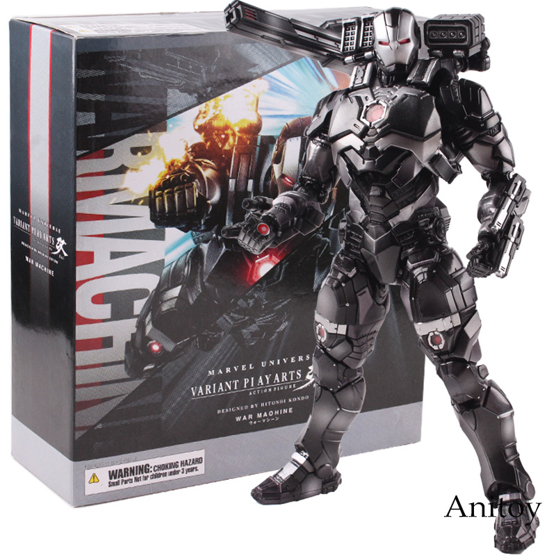 Marvel Universe Variant Play Arts Kai Action Figure War Machine Figure PVC Collectible Marvel Action Figures Model Toy 25cm play arts kai marvel avengers infinity war super hero iron man war machine pvc action figure collectible model toy