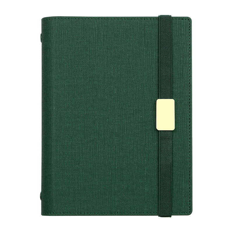 Image 5 - A5 C5 Business affairs High grade Office Leather surface Removable Spiral Loose leaf Notebook 6 Holes Multifunctional Notepad-in Notebooks from Office & School Supplies