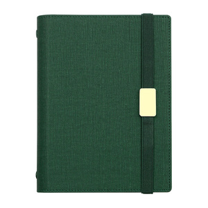 Image 5 - A5 C5 Business affairs High grade Office Leather surface Removable Spiral Loose leaf Notebook 6 Holes Multifunctional Notepad