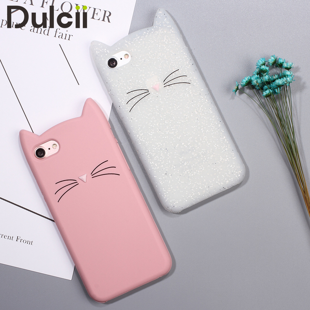custodia iphone 7 silicone gatto