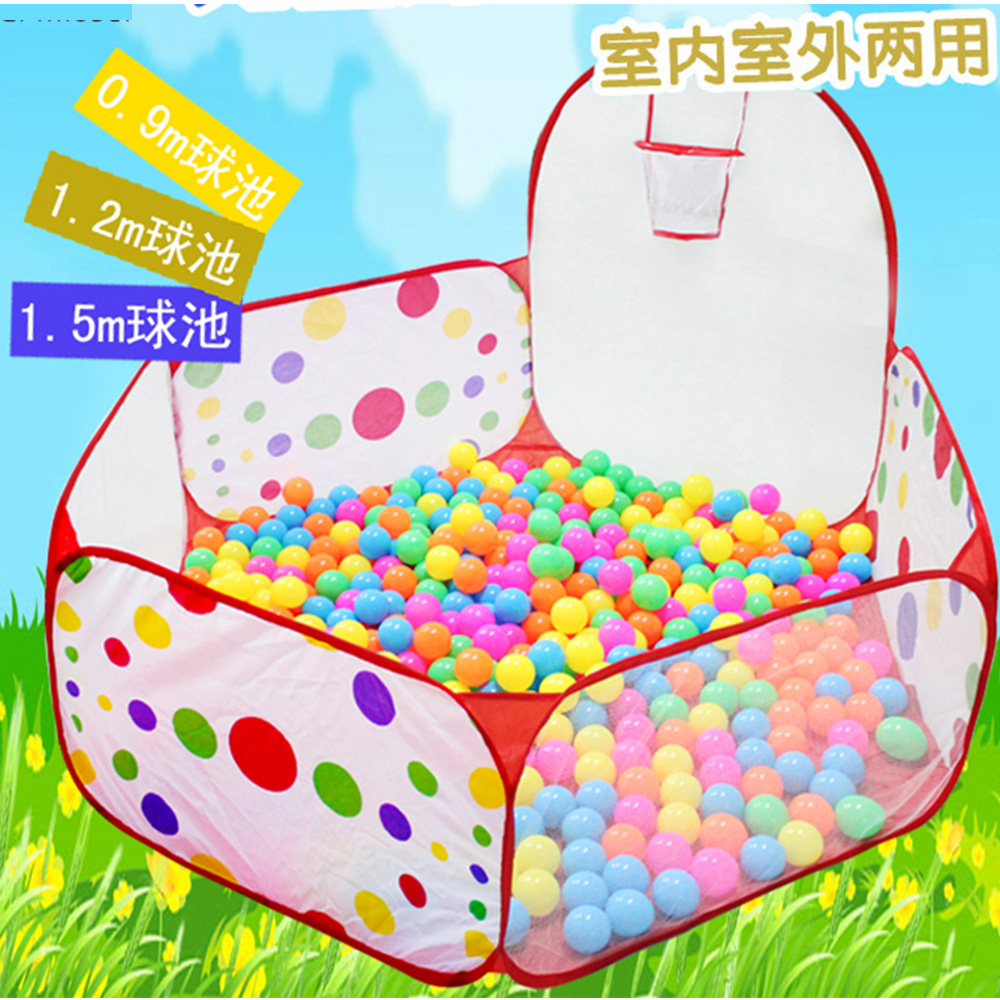 2017 New Foldable Children Kid Ocean Ball Pit Pool Game Play Tent Ball Hoop In/Outdoor Play Hut Pool Play Tent House tents